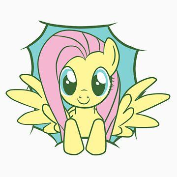 Peeky Fluttershy by Kiyi