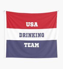 USA Drinking Team Shirt / Gear Wall Tapestry