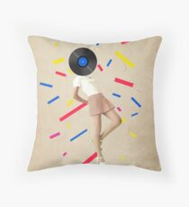 Color Chaos Collection -- The Party Never Ends Throw Pillow