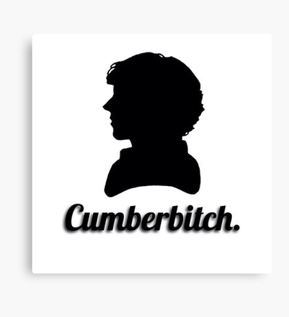 Cumberbitch silhouette design Canvas Print