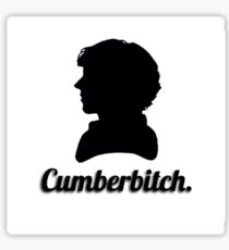 Cumberbitch silhouette design Sticker