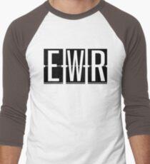 EWR - Newark NJ Airport Code Souvenir or Gift Shirt Men's Baseball ¾ T-Shirt