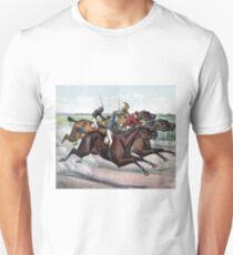 VINTAGE HORSE RACE POSTER Pop Art Unisex T-Shirt