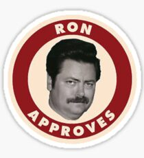 Ron Swanson Parks And Rec  Sticker