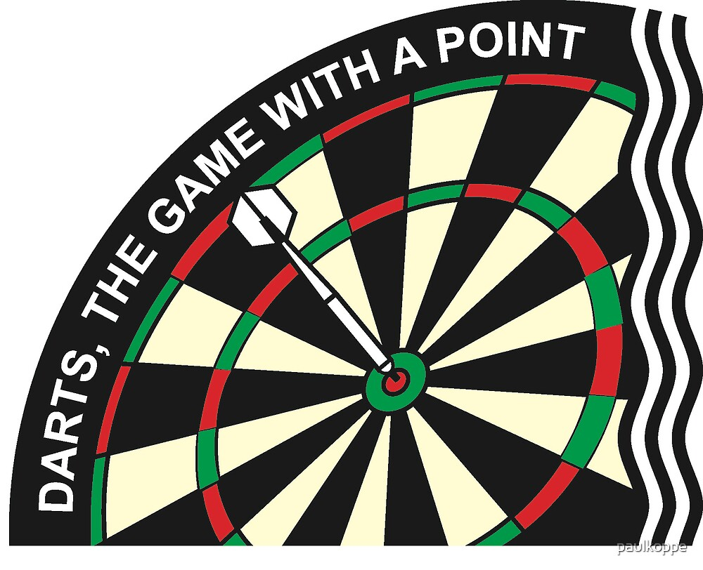 Dart logo - Darts, the game with a point by paulkoppe
