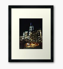 New York, Manhattan, Brooklyn, New York City, architecture, street, building, tree, car,   Framed Print