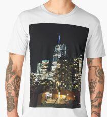 New York, Manhattan, Brooklyn, New York City, architecture, street, building, tree, car,   Men's Premium T-Shirt