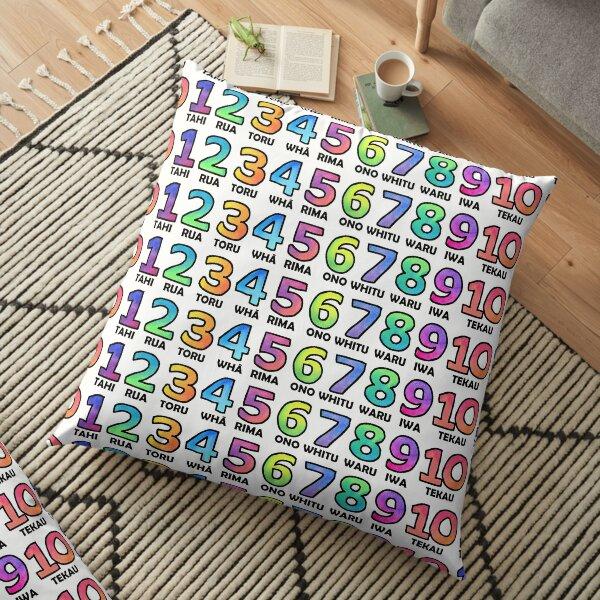 Te Reo Maori - Numbers Floor Pillow