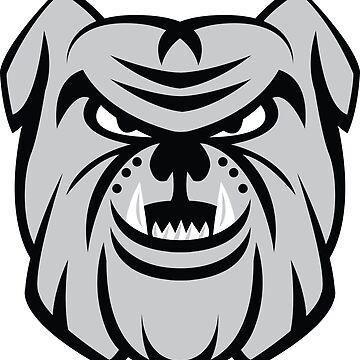 Bulldog Face by 1of100