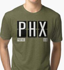 PHX - Phoenix Arizona Airport Code Souvenir or Gift Shirt Tri-blend T-Shirt