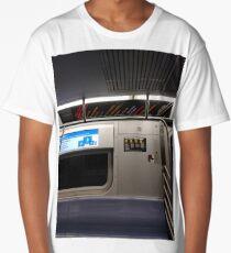 Train, New York, Manhattan, Brooklyn, New York City, architecture, street, building, tree, car,   Long T-Shirt