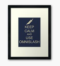 KEEP CALM AND USE OMNISLASH Framed Print