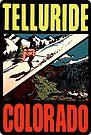 Telluride Colorado Ski Vintage Travel Decal by hilda74