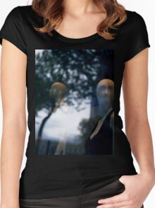 Surreal shop dummy mannequin portrait square color analogue medium format film still life Hasselblad  photo Women's Fitted Scoop T-Shirt