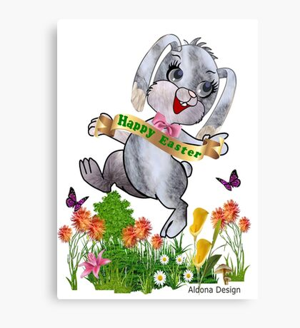 Bunny wishes Canvas Print