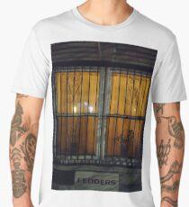 Iron, New York, Manhattan, Brooklyn, New York City, architecture, street, building, tree, car,   Men's Premium T-Shirt