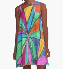 The Rubik's Stain A-Line Dress