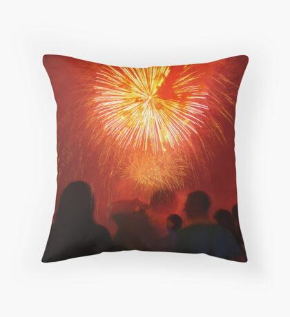 the red strangers Throw Pillow