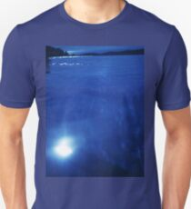 Mediterranean sea off Mallorca night blue color Hasselblad square medium format film analogue photo T-Shirt