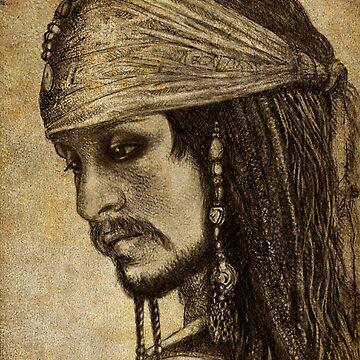 Johnny Depp as Captain Jack Sparrow by Gorgidas