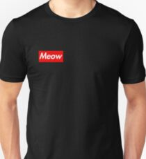 Meow Supreme Parody Unisex T-Shirt