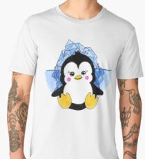 Cute Baby Penguin Animal Art Design Men's Premium T-Shirt