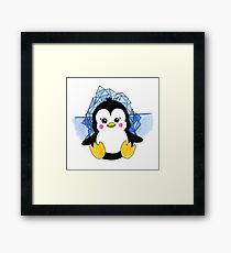 Cute Baby Penguin Animal Art Design Framed Print