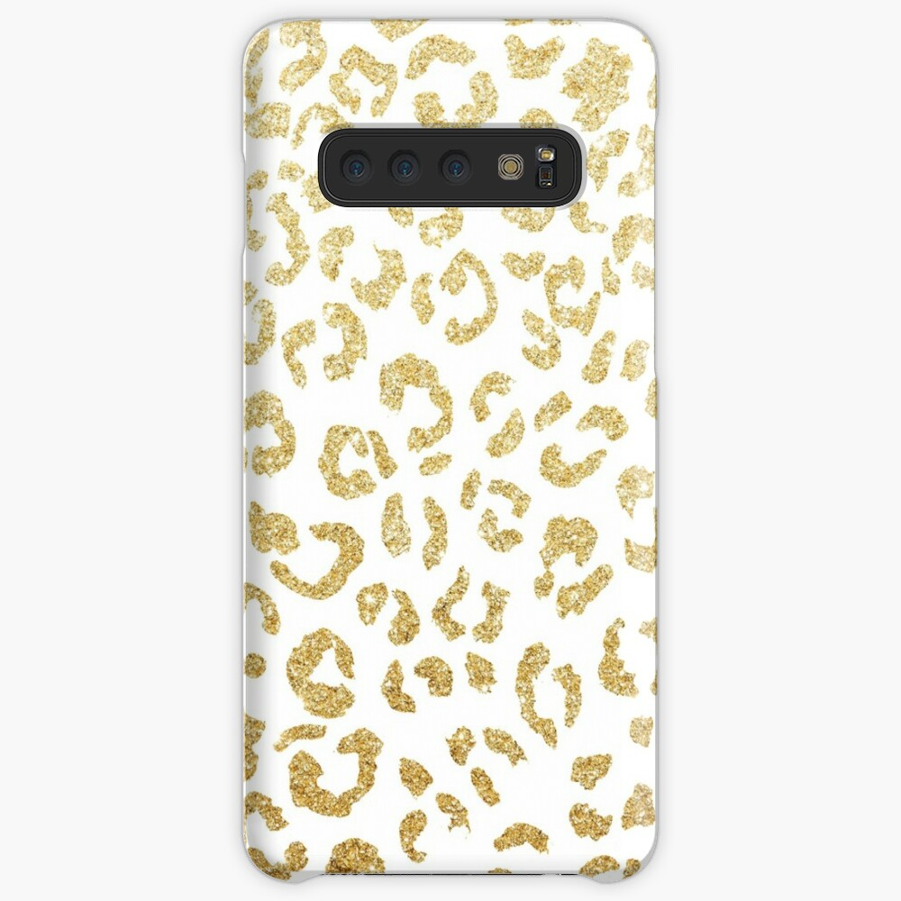 Modern leopard pattern luxury faux gold glitter Case & Skin for Samsung Galaxy