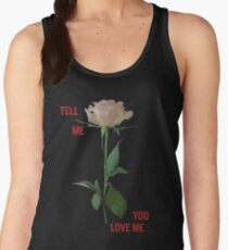 Demi Lovato - Tell Me You Love Me ROSE *Black* Women's Tank Top