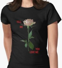 Demi Lovato - Tell Me You Love Me ROSE *Black* Women's Fitted T-Shirt