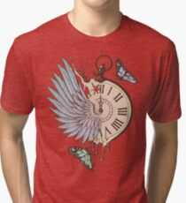 Le Temps Passe Vite (Time Flies) Tri-blend T-Shirt
