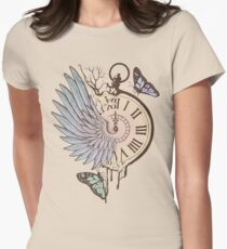 Le Temps Passe Vite (Time Flies) Women's Fitted T-Shirt