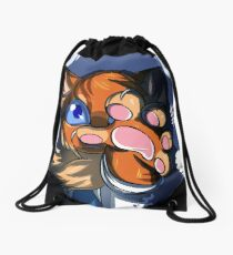 Furry Flametail Dies Drawstring Bag
