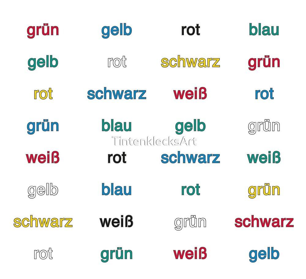 Stroop Effekt deutsch von TintenklecksArt
