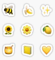 yellow aesthetic sticker set Sticker