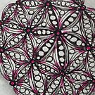Zentangle 202 Purple Rumpus Ball by CCWillow