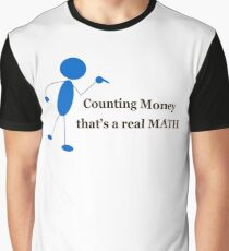 Counting Money That's A Real Math Graphic T-Shirt