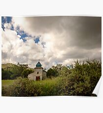 Old church in mountains Poster
