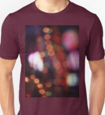 Red purple abstract photo of bokeh lights square Hasselblad 6x6 medium format film analogue photograph Unisex T-Shirt