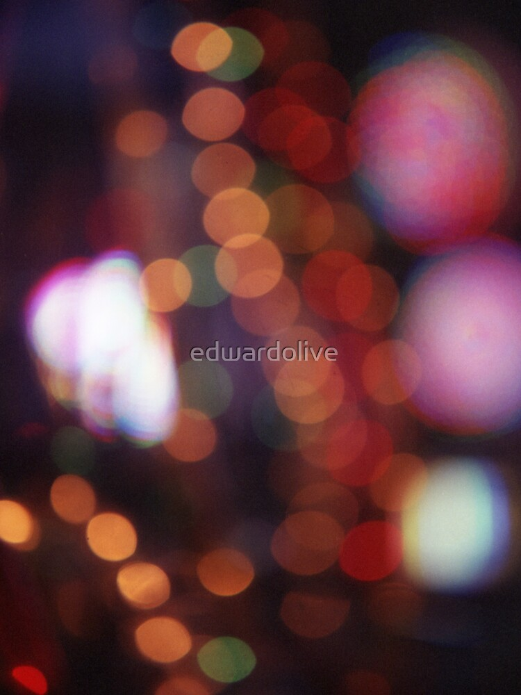 Red purple abstract photo of bokeh lights square Hasselblad 6x6 medium format film analogue photograph von edwardolive