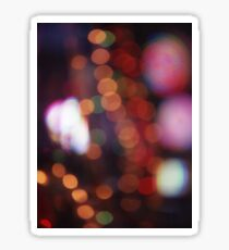 Red purple abstract photo of bokeh lights square Hasselblad 6x6 medium format film analogue photograph Sticker