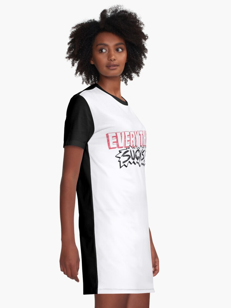 Alternate view of Everything Sucks! Graphic T-Shirt Dress