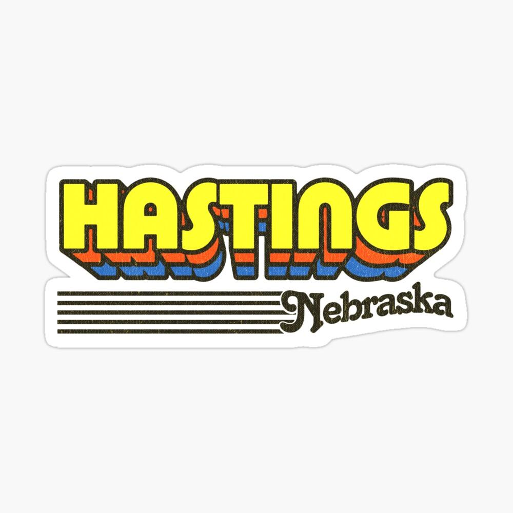 Hastings, Nebraska | Retro Stripes Sticker