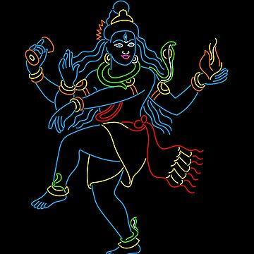 Led Shiva Nataraj by tshirtbaba
