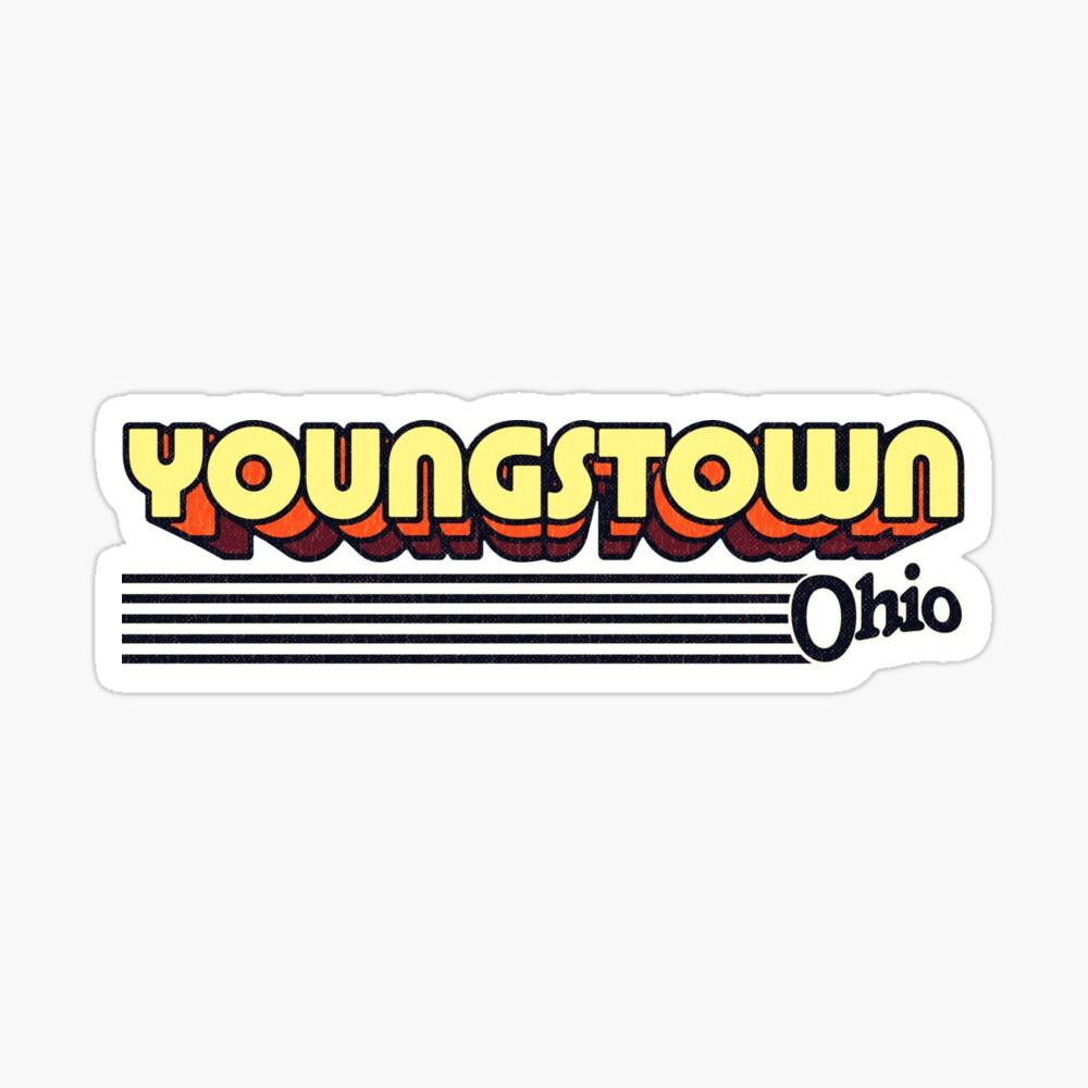 Youngstown, Ohio | Retro Stripes Sticker