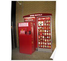 Redbox Red Box Display Advertising Poster By Znamenski