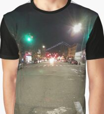 Street light, New York, Manhattan, Brooklyn, New York City, architecture, street, building, tree, car,   Graphic T-Shirt