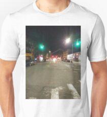 Street light, New York, Manhattan, Brooklyn, New York City, architecture, street, building, tree, car,   Unisex T-Shirt