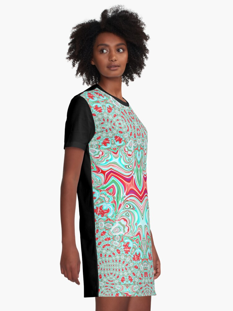 Alternate view of Abstract Bat Graphic T-Shirt Dress