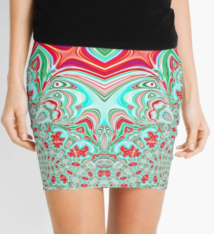 Abstract Bat Mini Skirt